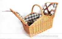 Корзинка для пикника на 4 персоны (цвет медовый)