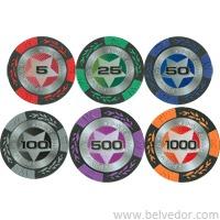 Профессиональный набор для покера Stars 500 фишек 14 гр и 16 гр