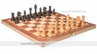Шахматы складные турнирные бук, 50мм с фигурами №3