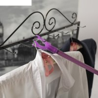 Съемник для одежды, труба в цвет вилки, L=145, вилка 5*5,5, цвет микс