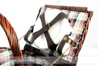 Корзина для пикника на 4 персоны New 2015 цвет шоколадный