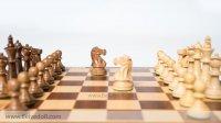 """Шахматы """"стаунтон монарх"""", фигуры самшит и палисандр, король 6,5см 30х30см"""