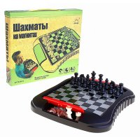 """Игра настольная """"шахматы"""" магнитные, в коробке"""