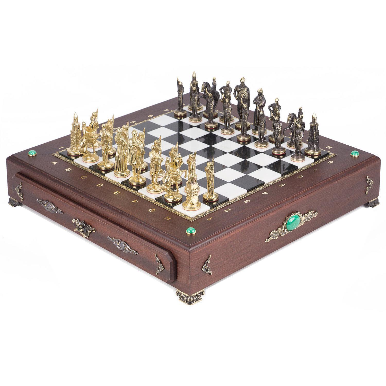 Шахматный ларец фигуры quot;Русские quot; 420х420х90 мм 17 кг