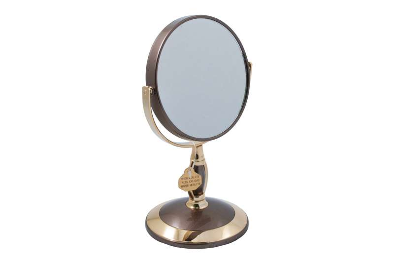 """Зеркало* B4""""906 Brz/g Bronze&gold настольное 2-стор. 3-кр.ув"""