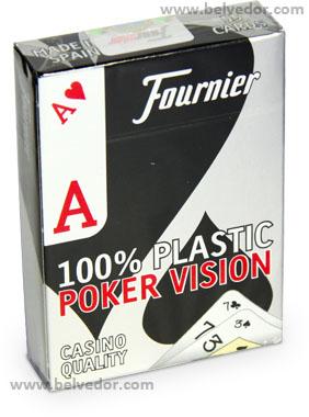 """Карты игральные Fournier Poker Vision 100""""пластик"""