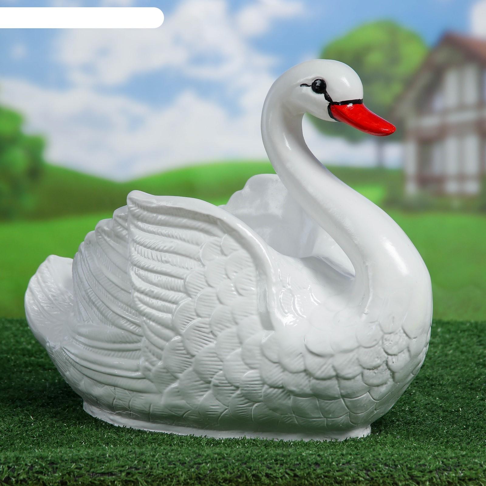 Кашпо лебедя