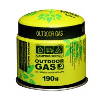 381841 картридж газовый Camping World Outdoor (прокольный, 190г, до -5c)
