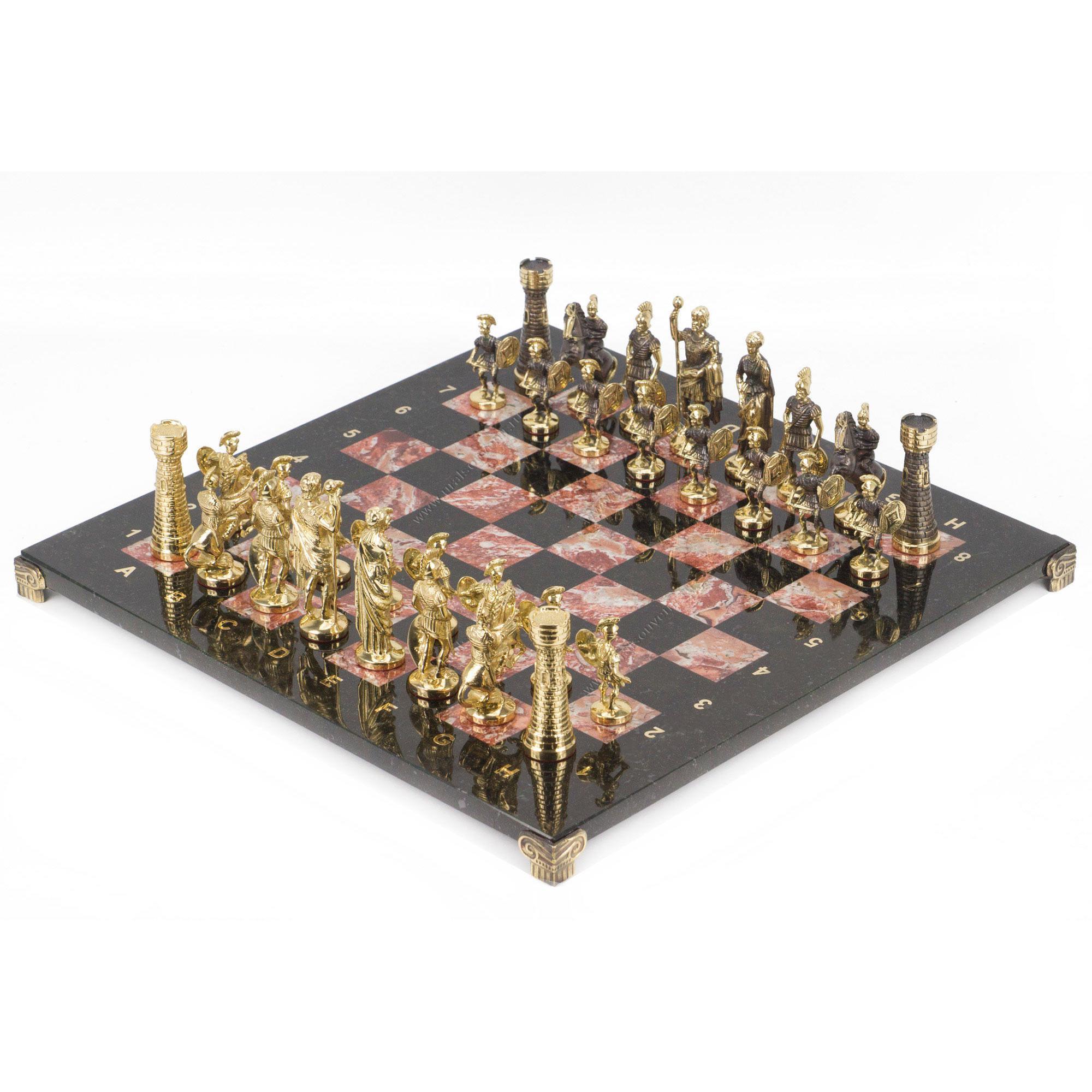 Шахматы Римские бронза креноид 400х400 мм