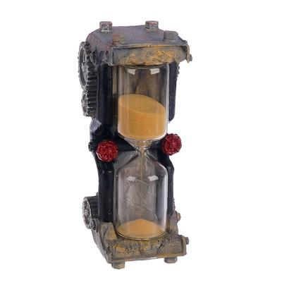 """Часы песочные """"шестеренки"""", микс песок, полистоун, 5 минут,5 7,5*18,35 см"""