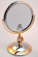 Зеркало B6 806 C/g Chrome Gold настольное 2-стор. 5-кр.ув.1