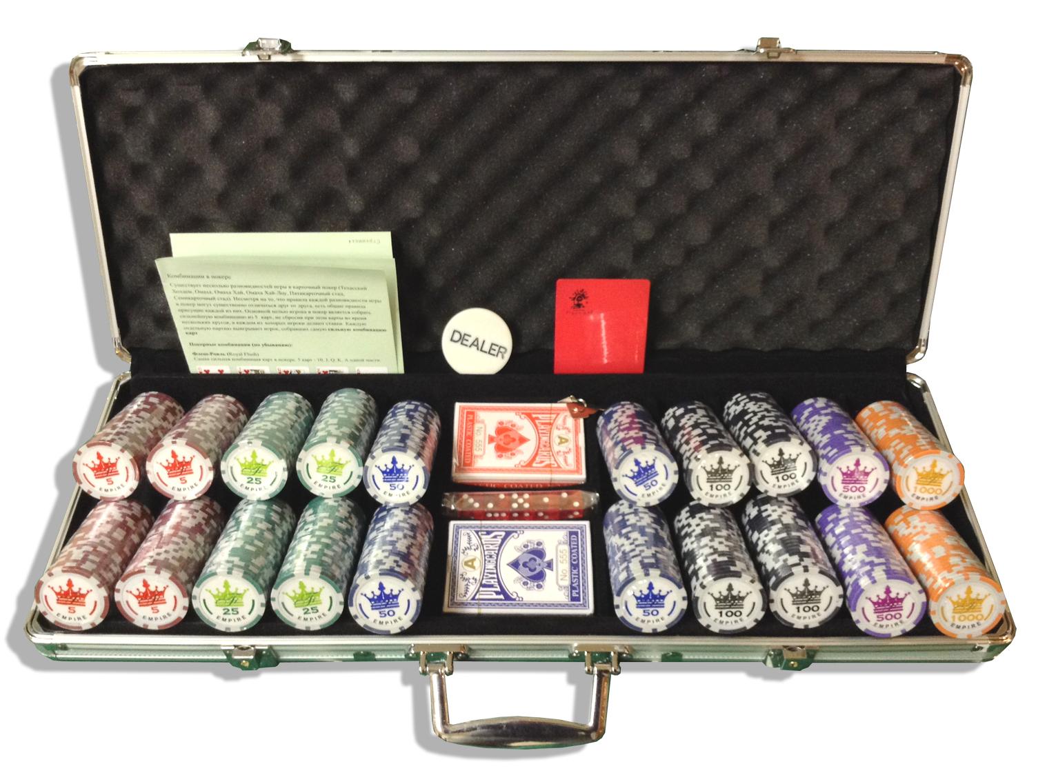 Empire 500 профессиональный набор для покера на 500 фишек