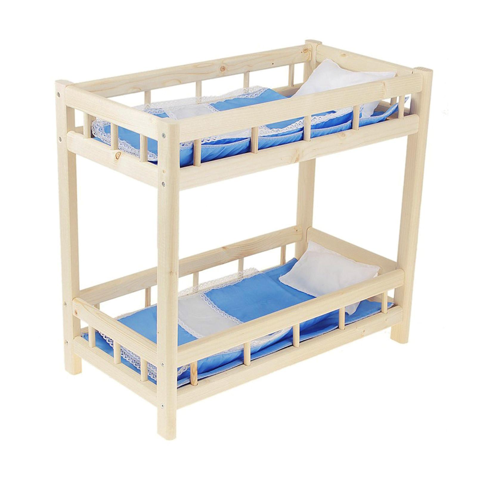 Как своими руками сделать для куклы двухъярусную кровать