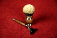 Набор для бритья (цвет орех, Mach 3, 4 предмета)