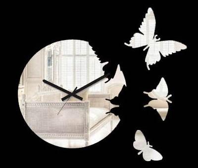 Часы порхающие бабочки - зеркальные
