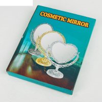 Зеркало настольное обаяние, круглое двухстороннее, с увеличением, цвет бро