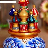 Сувенир музыкальный храм, 17х10 см, гжель