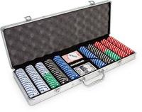 Набор для игры в покер на 500 фишек Texas Holdem
