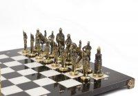 """шахматы """"русские"""" бронза мрамор 400х400 мм"""