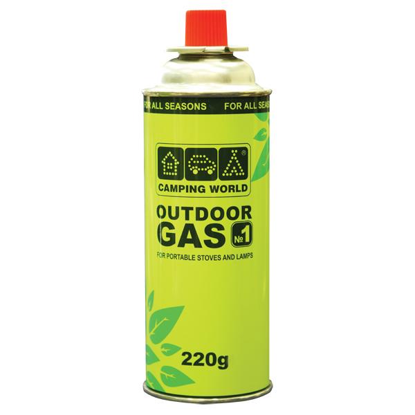 381872 баллон газовый картридж Outdoor (цанговый, 220г, до -5с)