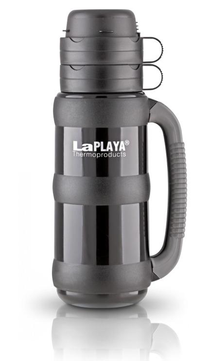 Термос со стеклянной колбой Laplaya Traditional 35-180, Black (1,8 литра)