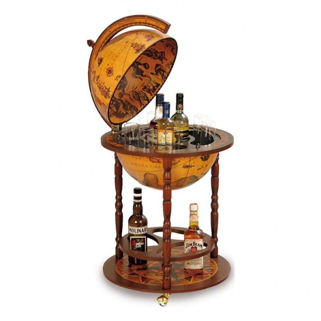 Глобус-бар напольный юнона, сфера 40 см