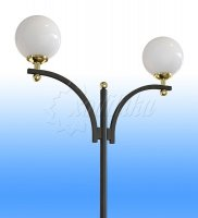 Стальной фонарный столб т-10-2 со светильниками 3,52 м.