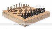 Шахматы стародворянские дуб, король 8см, доска ларец 44х44см