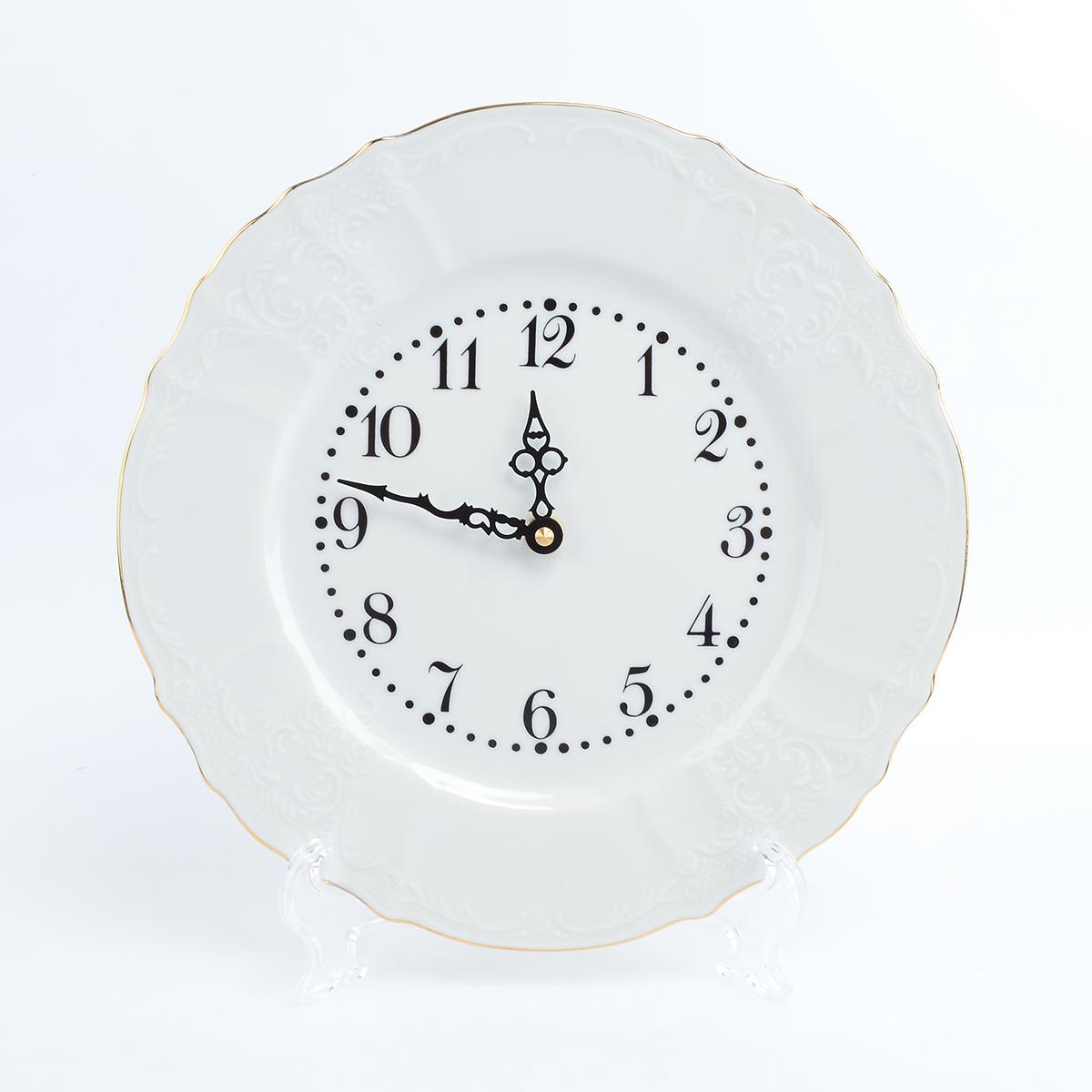 Часы круглые Bernadotte белый узор 27 см