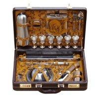 Набор для пикника в чемодане «на привале» (6персон)