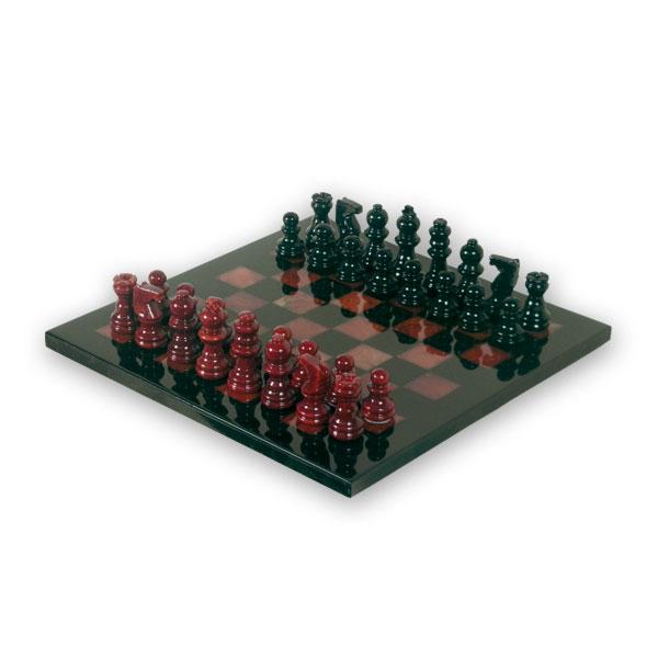 """Шахматы из камня классические """"красное и черное"""""""