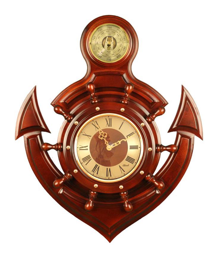 М-90 метеостанция якорь сувенирный (часы + барометр)