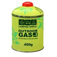 381865 баллон газовый Camping World Outdoor (резьбовой 450г)