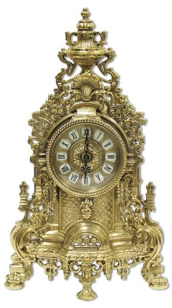 Al-82-103 часы каминные из бронзы, золото (alberti Livio)