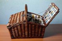 Корзина для пикника на 4 персоны цвет шоколад