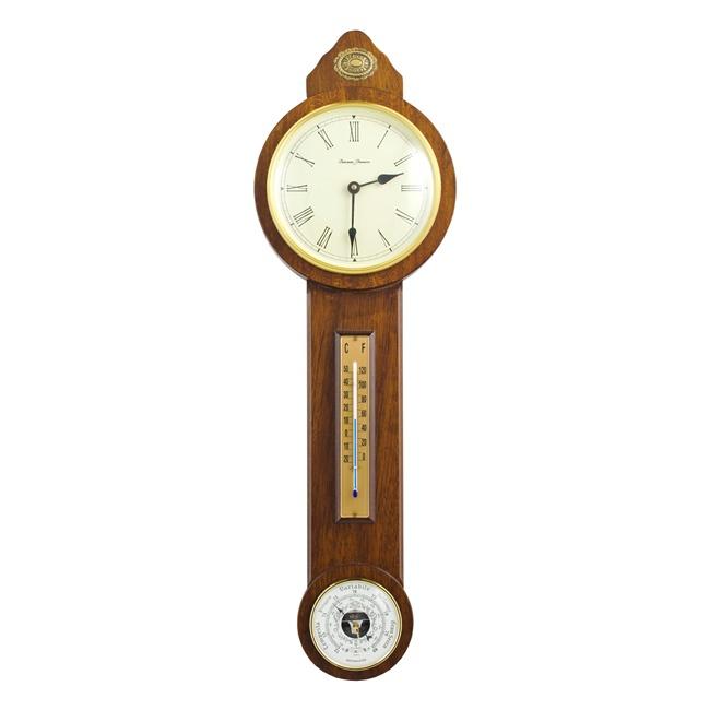 "B07  часы - барометр  ""кантри"",орех антик, H.68 см"