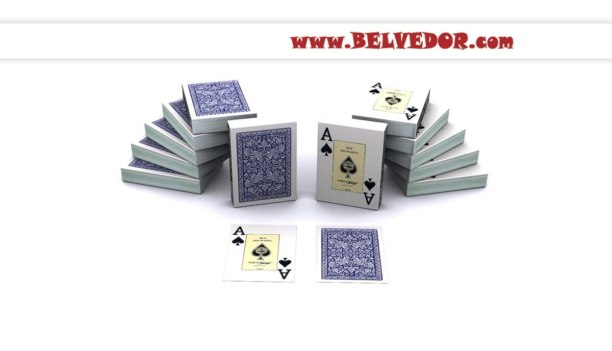 Карты для покера Fournier Premium 100% пластик (2818)
