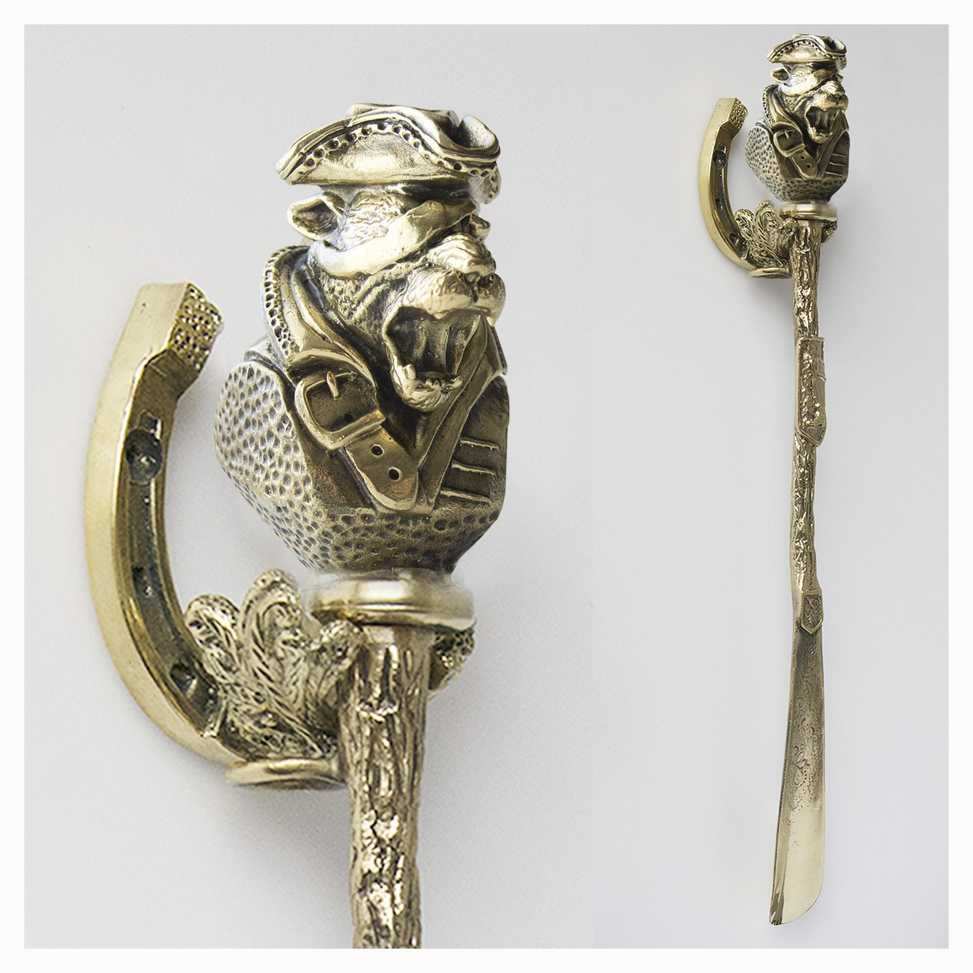 Подарочная ложка для обуви леопард пират