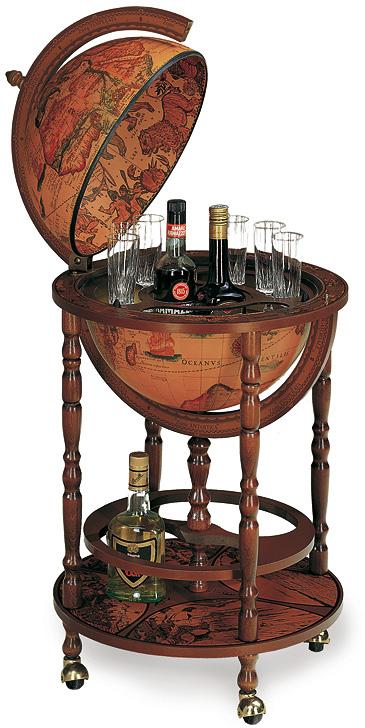 31 глобус-бар с подст. для бутылок, диам.40см, 50х93h