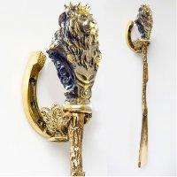 Бронзовая ложка для обуви лев царь зверей