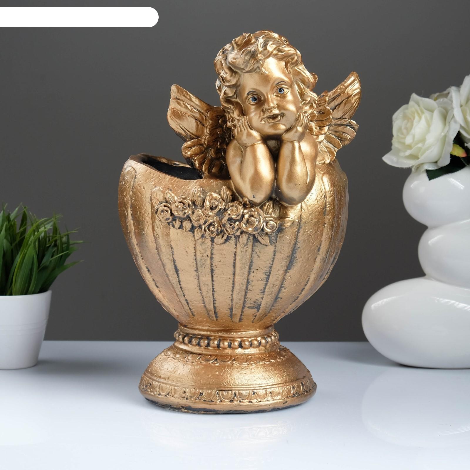 Фигурное кашпо ангел в вазе, бронза (1805270) купить в ... Пила Ловушка Ангел