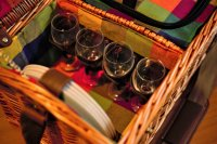 Корзина для пикника на 4 персоны цвет медовый