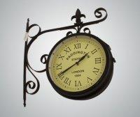 Часы на кронштейне (на солнечной батарее)