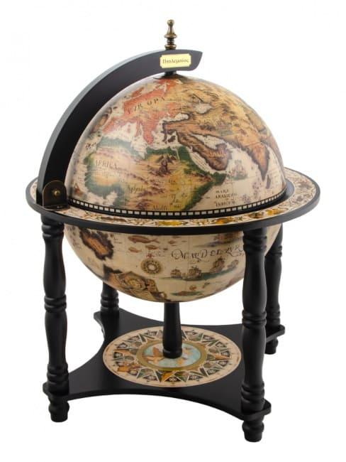 Глобус-бар настольный ортелиус, сфера 33 см