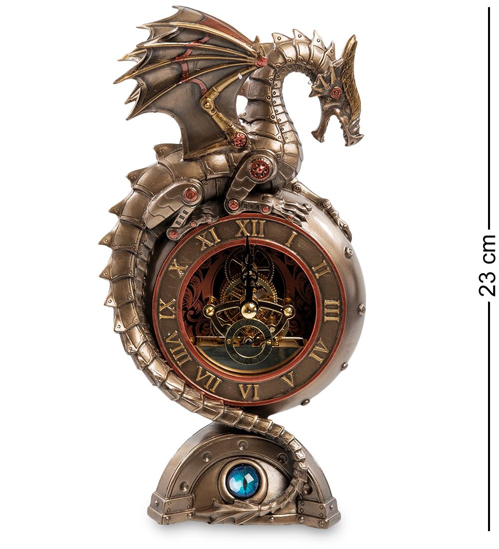 Ws-910 статуэтка-часы в стиле стимпанк дракон