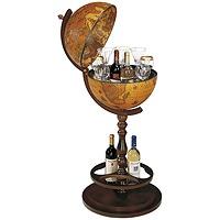 33 глобус бар на 1-й ножке, диаметр 40см, 46x101 см