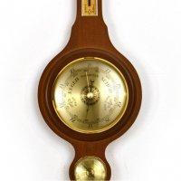 Деревянный барометр метеостанция Orka