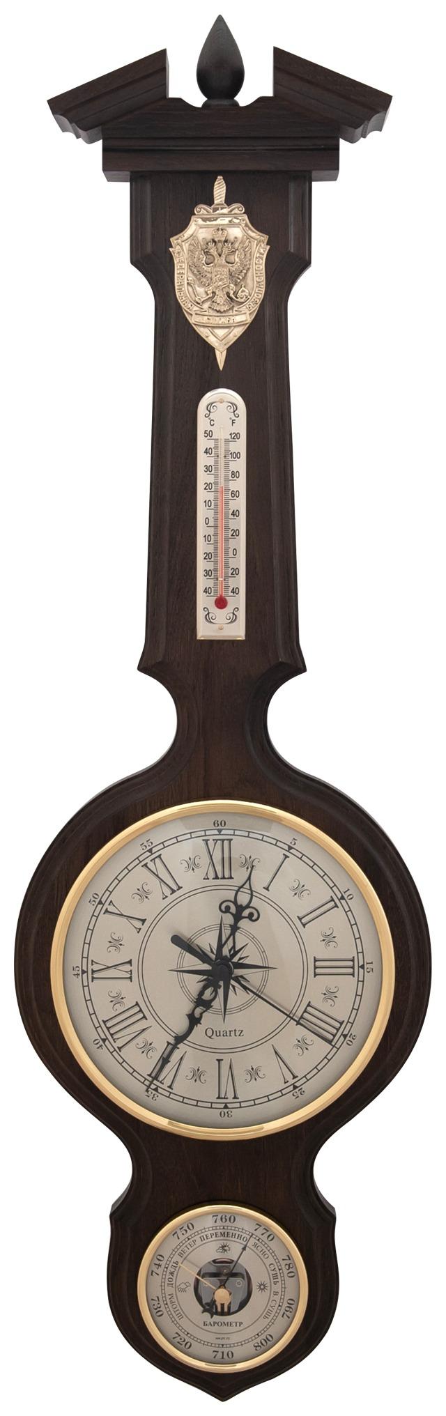 Бытовая метеостанция бм-96 массив дуба (смич) часы герб