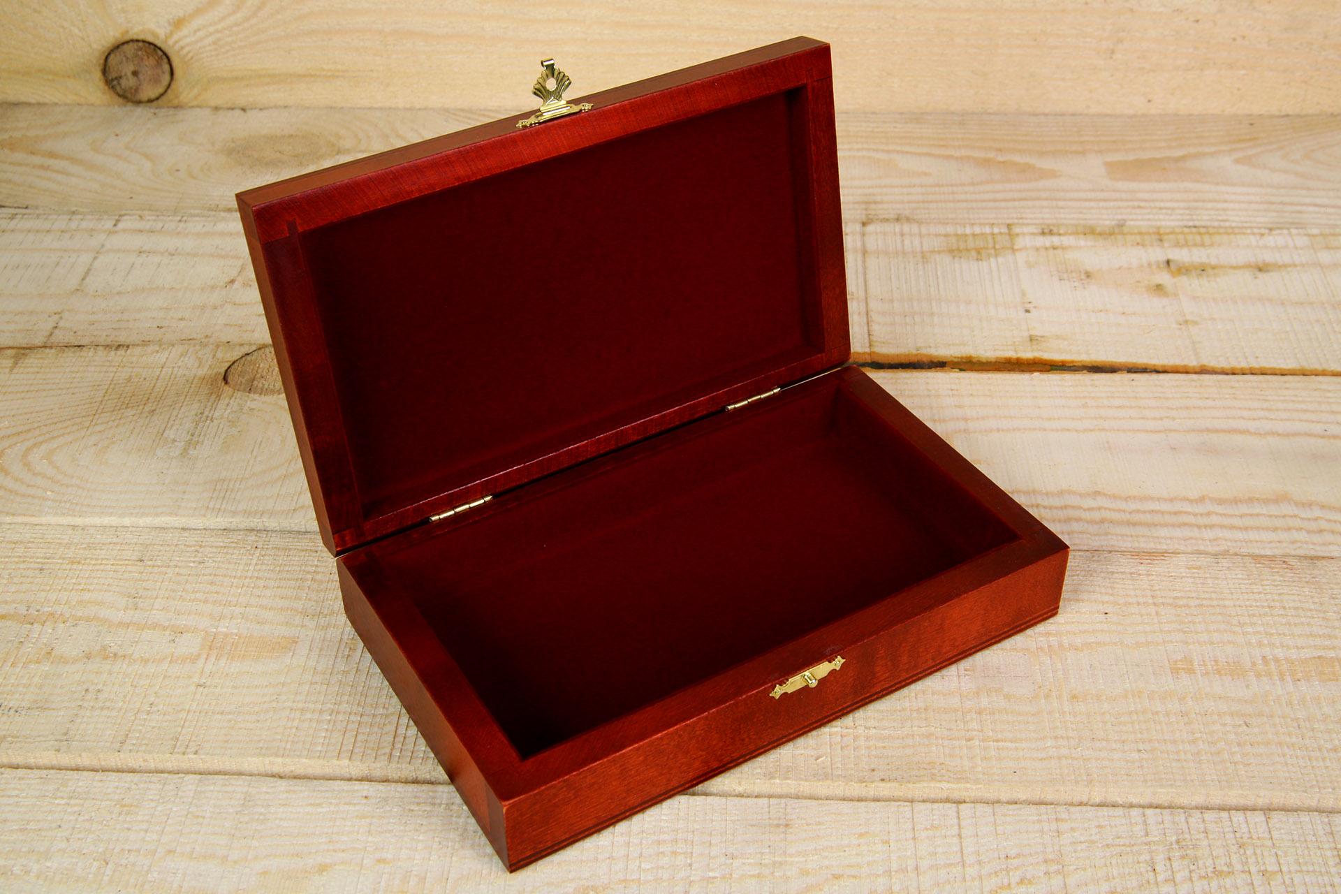 Rt-27 деревянная шкатулка для денег (одно отделение)