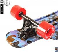 408-ba скейтборд Y-scoo Longboard Shark Tir 31″ пластик 79х22 с сумк